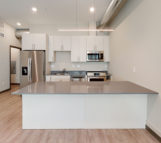 View of open concept kitchen
